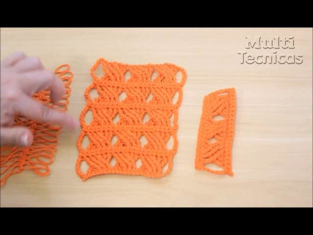 Trança em crochê e crochê de grampo - Helen Mareth