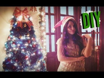 DIY: Árvore de Natal de papel + Decoração. christmas tree decor