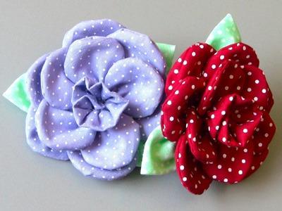 Flor em tecido com 11 petulas Passo a Passo - Fabric flower tutorial