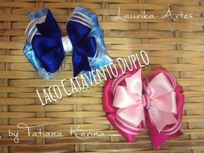 Laço catavento  duplo by Tatiana Karina