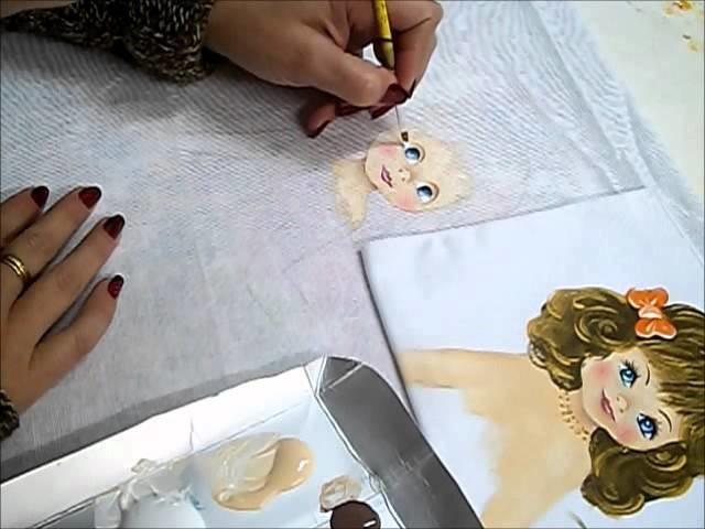 PINTURA EM TECIDO - Vídeo aula da boneca Janete compacto