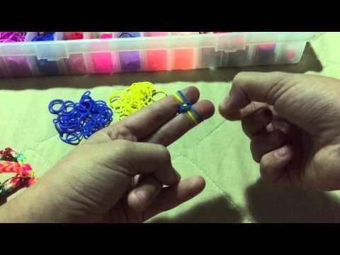Pulseira grossa de Elásticos - Tutorial (Rainbow Loom)