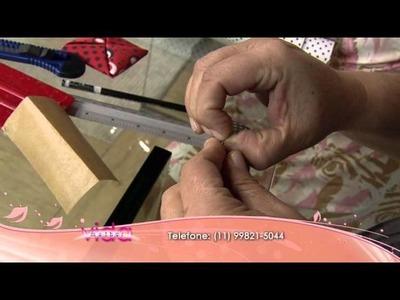Aprenda a fazer a técnica Orinuno, o origame em tecido, para decorar caixas!