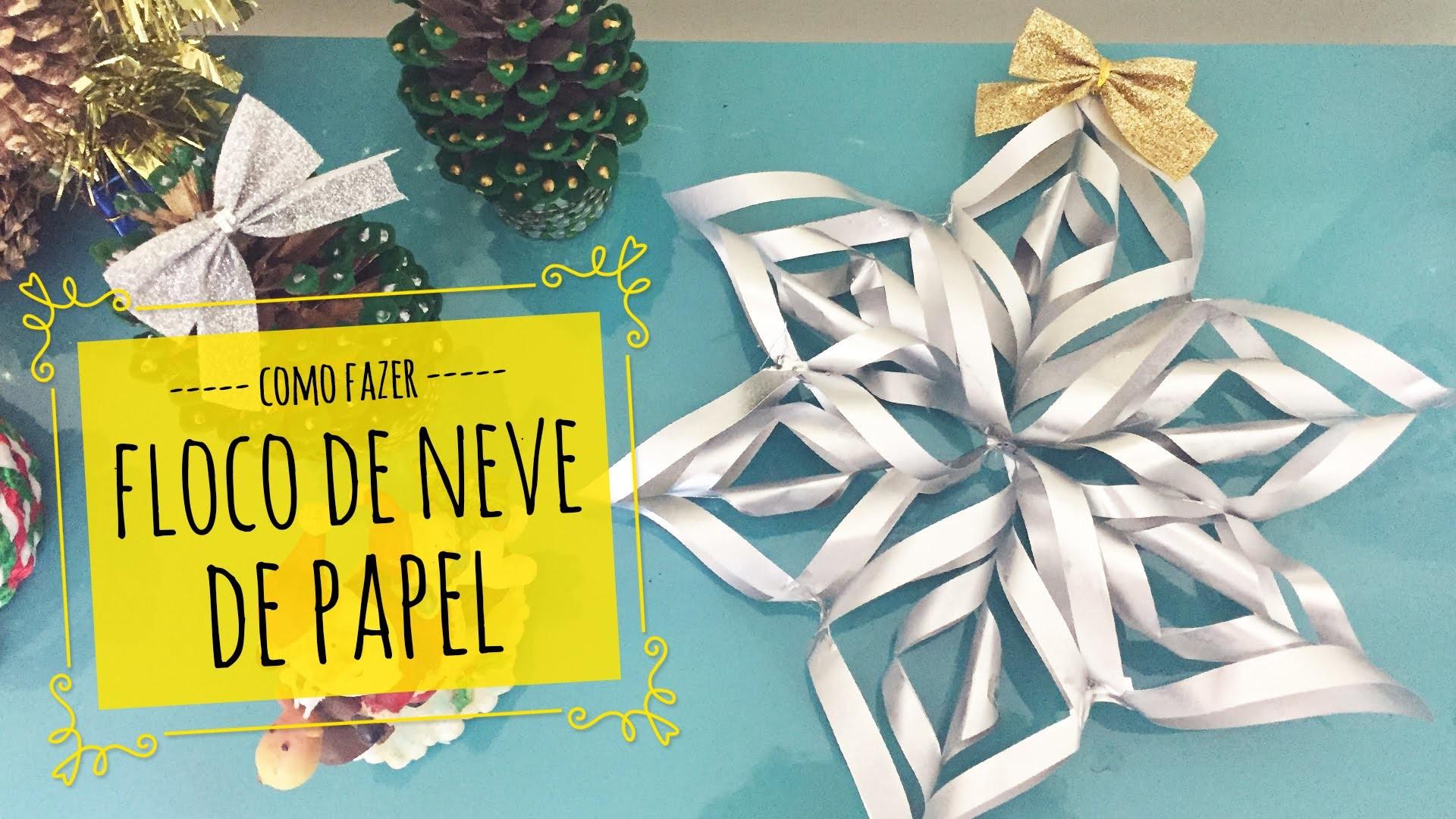 Como fazer floco de neve de papel ❄ DIY de Natal !