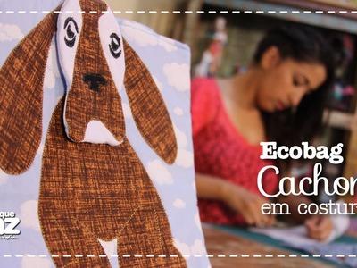 Ecobag Cachorro em Costura (Stella Hoff)