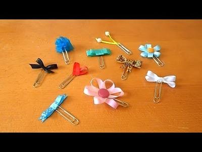 Tutorial - 10 ideias para decorar clips com fita