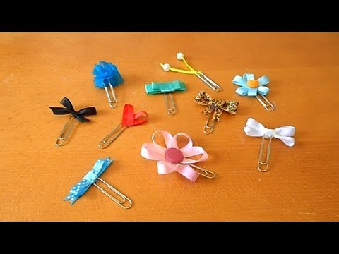Tutorial - 10 ideias para decorar clips com fita