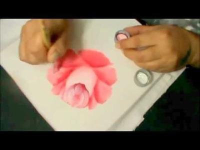 Como desenhar e pintar rosa bem rápido - pintura em tecido.