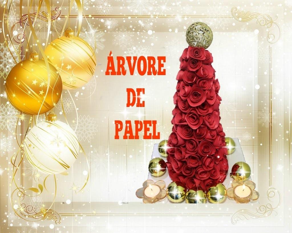 COMO FAZER ÁRVORE DE NATAL DE ROSAS DE PAPEL-DIY-PAPER TREE