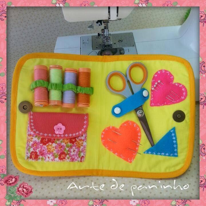 Kit  para costura como fazer. Passo a passo Com  Arte de paninho