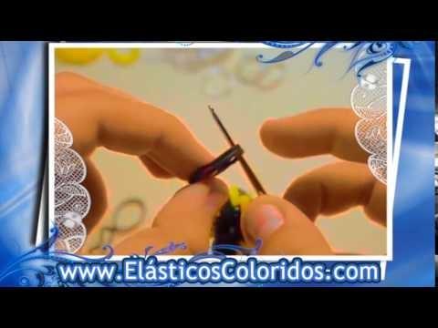 Abelha de Elásticos Coloridos - Rainbow Loom