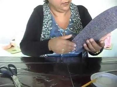 Artesanato - Aprenda a fazer caixa personalizada de papel micro-ondulado