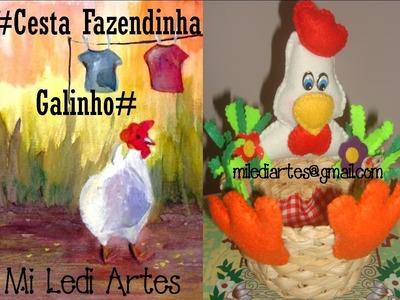 """ARTESANATO """"AULA CESTA GALINHO NA FAZENDINHA"""" 4- 10- 12"""