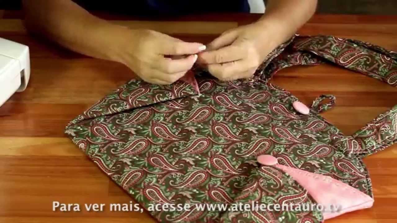 Bolsa Redonda - Artesanato - Ateliê Centauro -  Artesã Maura Castro