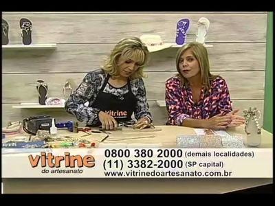 Chinelo Customizado com Laço Vazado com Andréia Bassan - Vitrine do Artesanato na TV
