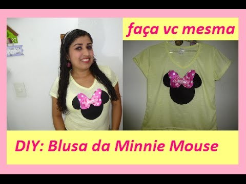 DIY: blusa da Minnie Mouse - Faça você mesma.