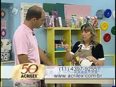 Pìntura em porcelana - Acrilex - Artesanato