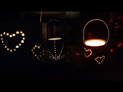 DIY: Abajur.Luminária de lata -reciclando-