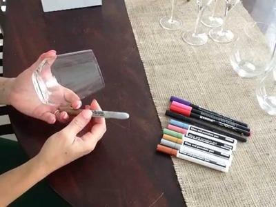 DIY costumizando taça e copo