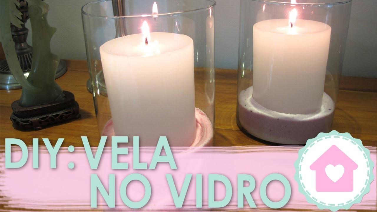 DIY Decoração Vela com Areia Colorida - wFashionista