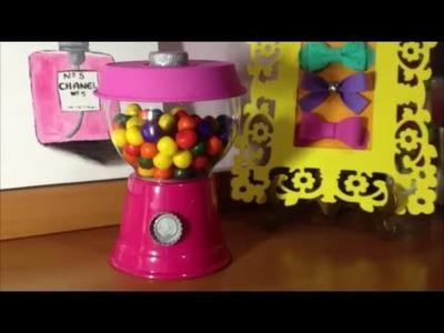 DIY Faça Você Mesma Uma Máquina de Balas ou Chicletes
