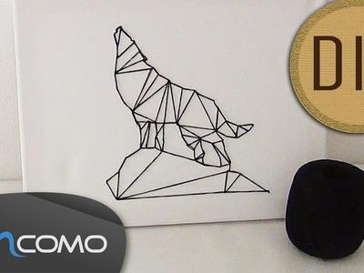 DIY - Quadro de Linha com Animal Geométrico