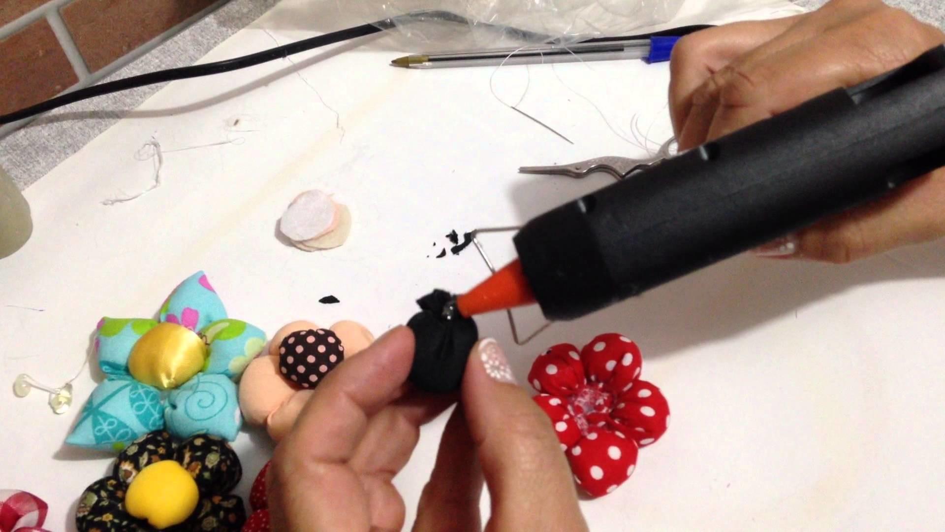 Como fazer Flor de Fuxico Personalizada Artesanato pt2