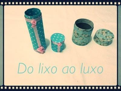 DIY - Caixinha feita com rolo de papel higiênico!
