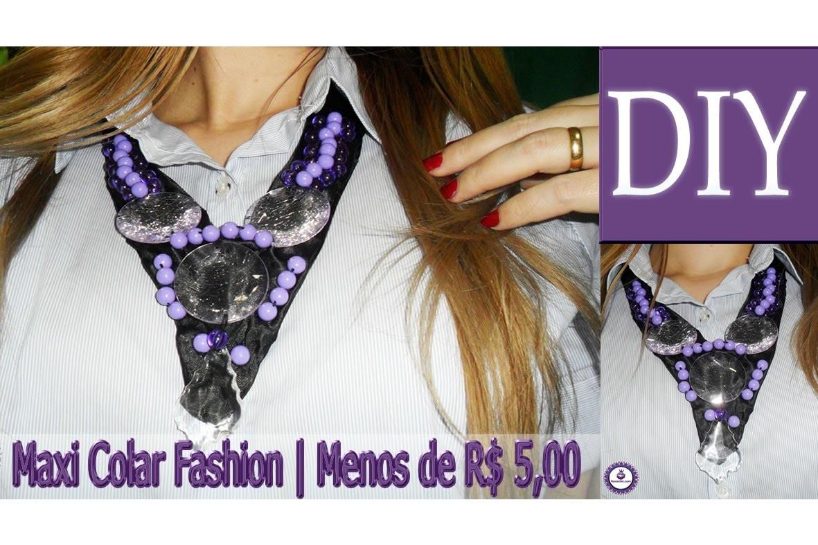 ✂ DIY | Como Fazer Maxi Colar Fashion por menos de R$ 5,00