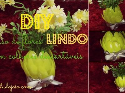 DIY: Vaso com colheres descartáveis|Faça você mesmo