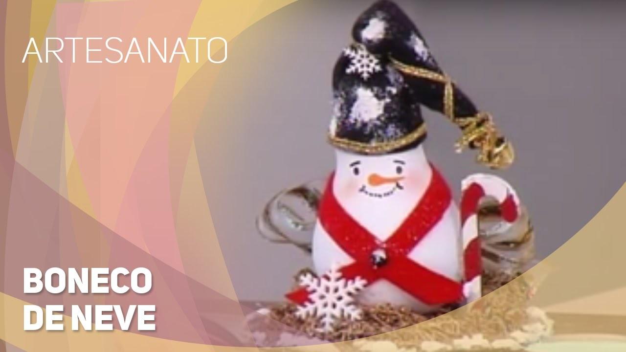 Artesanato - Boneco de neve (24.11.2015)