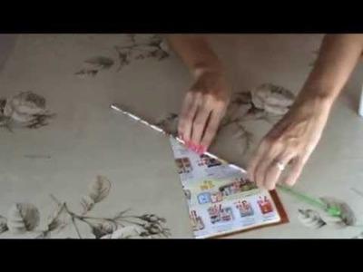 Artesanato - como fazer canudinhos com jornal