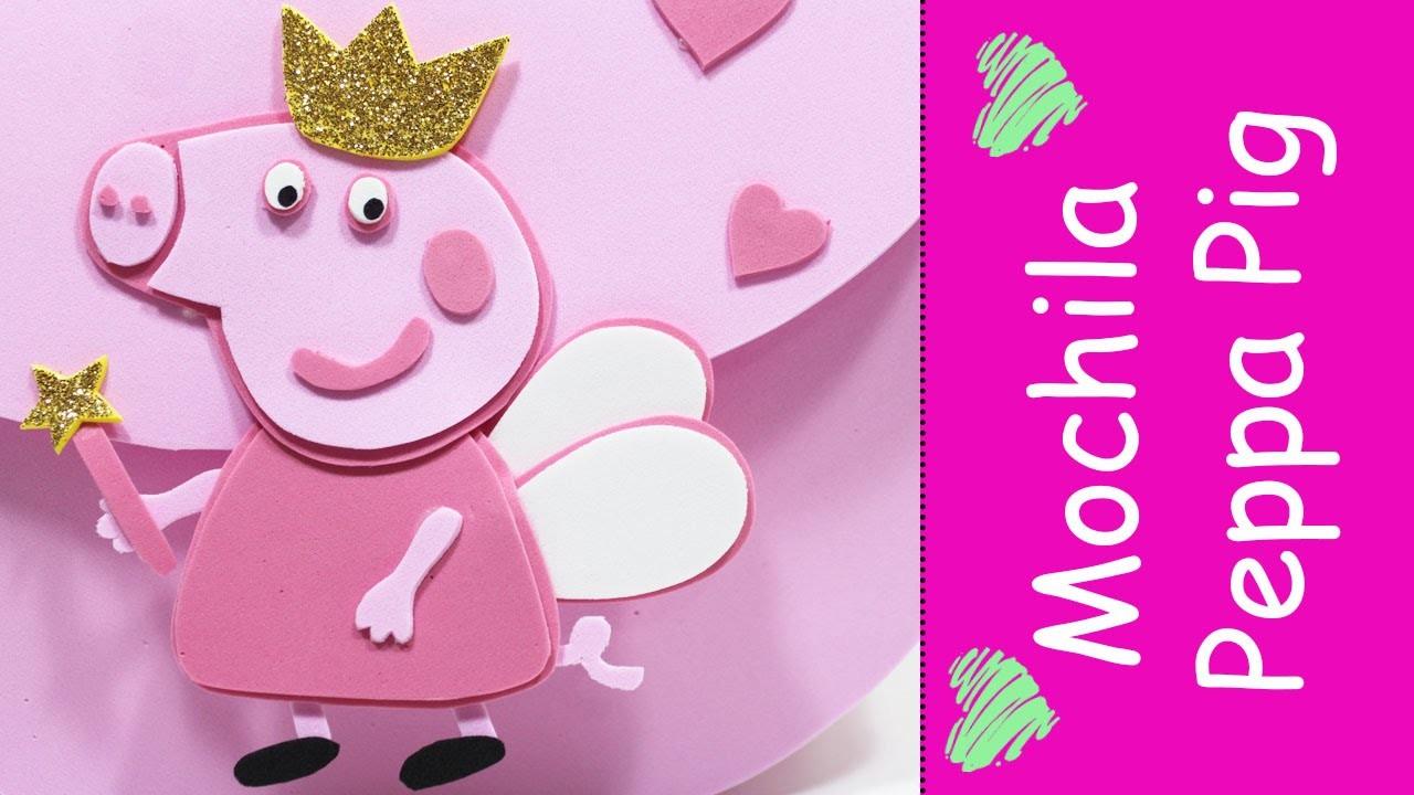 Artesanato EVA - Como Fazer Mochila Peppa Pig em EVA
