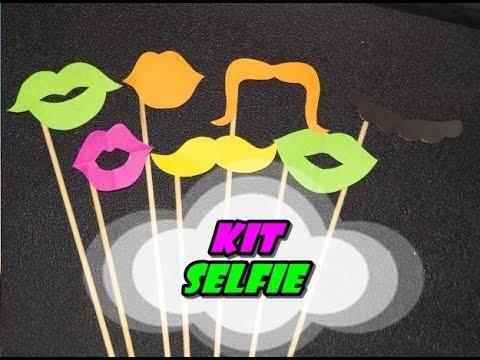 DIY.: Acessórios Divertidos - Kit Selfie