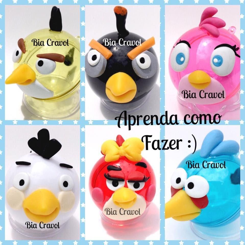 DIY: Como fazer Lembranças Angry Birds-biscuit-porcelana fria - By Bia Cravol