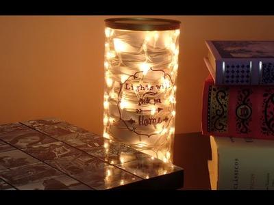 DIY: Luminária com pisca-pisca