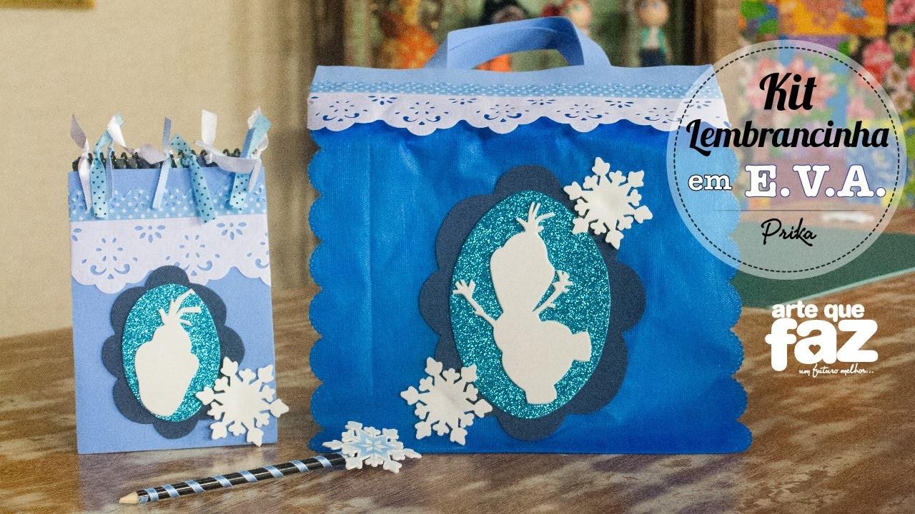 DIY - Sacola Frozen para festa infantil (Prika)