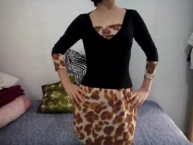 DIY-Transformando Blusa em vestido - Reciclagem de Roupas