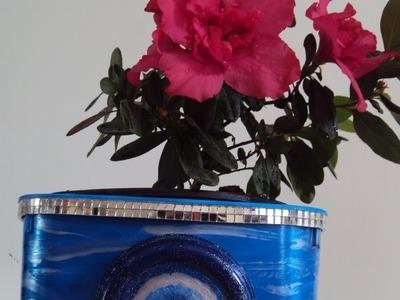 DIY: Transformando pote de sorvete e tampa de requeijão em cachepô