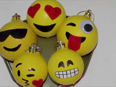 DIY: bolas de natal emoticon