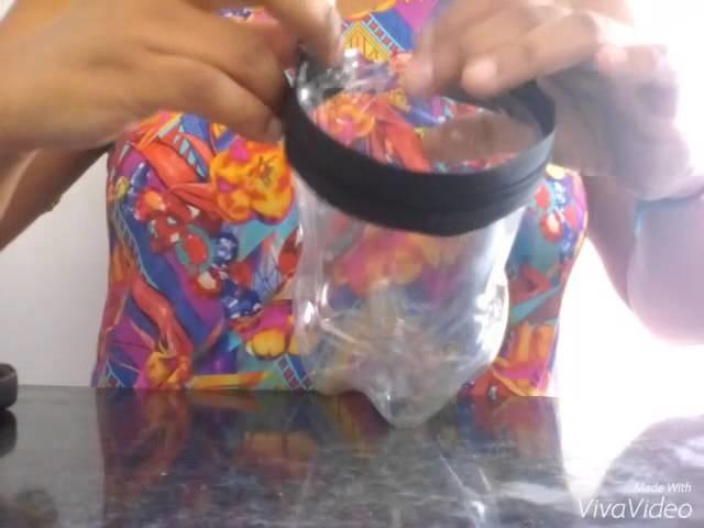 DIY:puxador de saco feito de garrafa pet #1