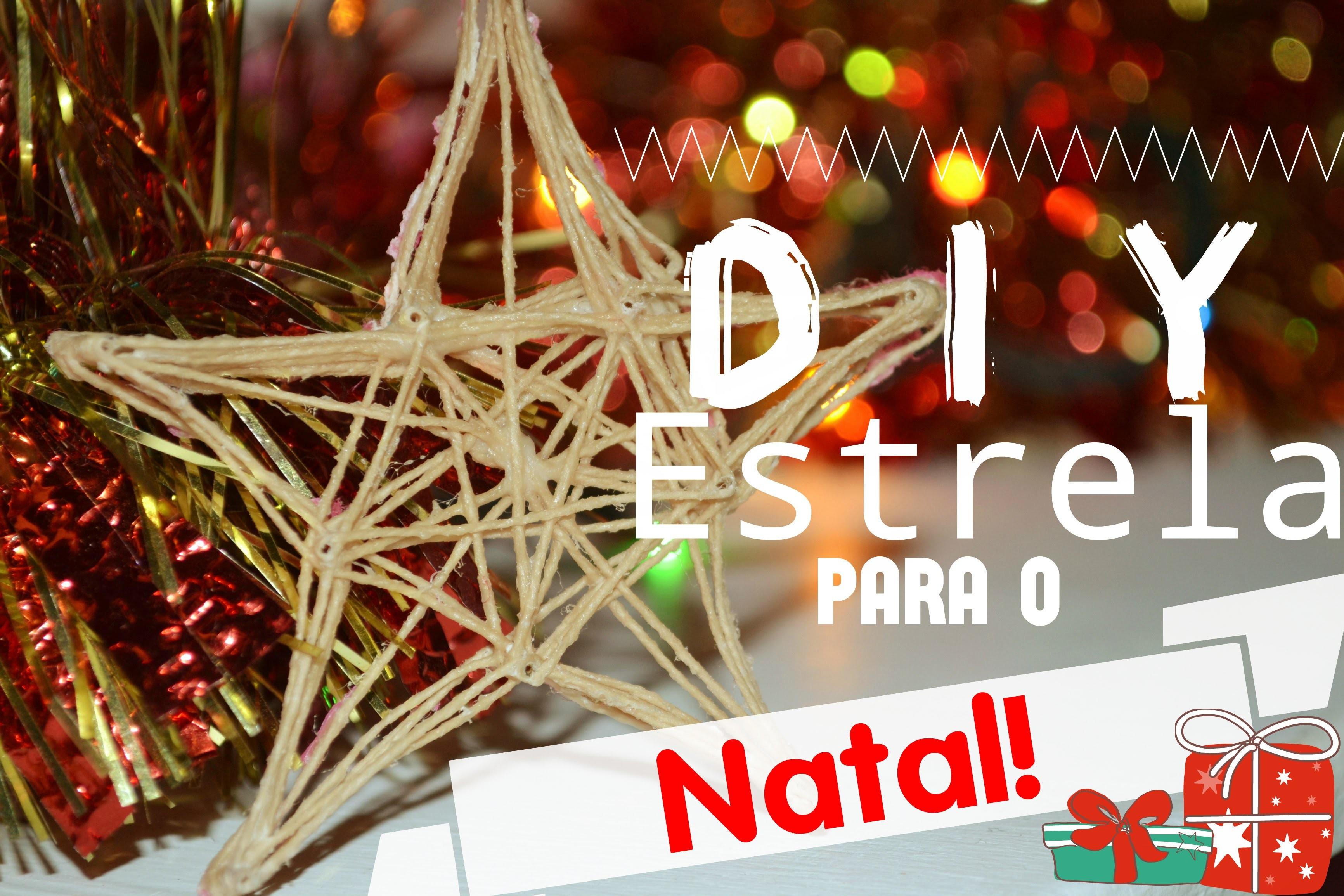 DIY: Estrela com linha para o Natal