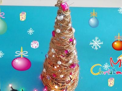 DIY saiba como fazer uma arvore de natal com fio barbante