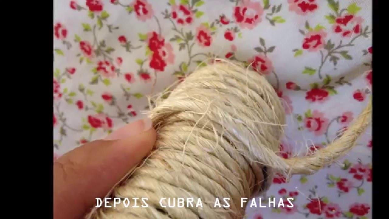 DIY: arara de roupas rústica e barata
