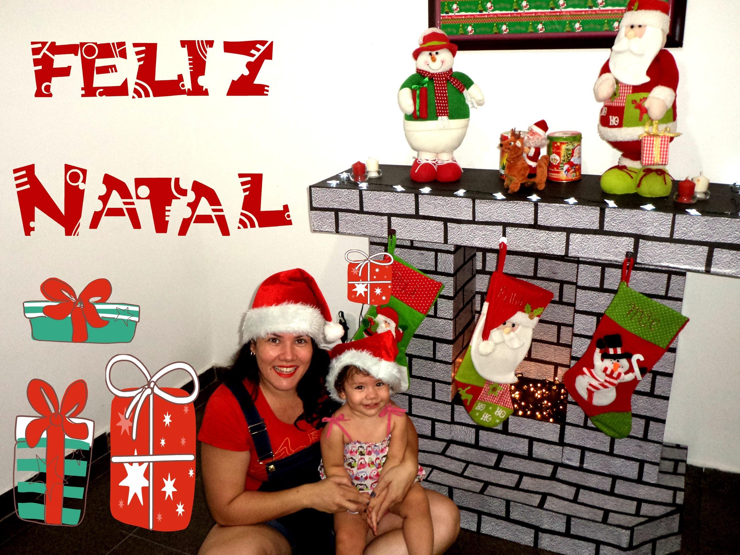 DIY: Decoração de Natal - Lareira Fake
