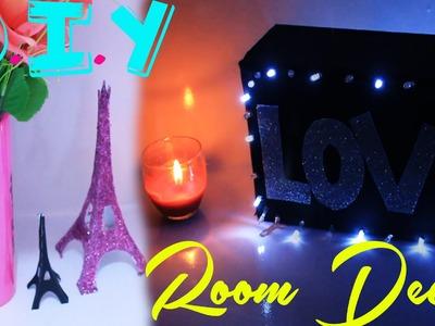 DIY: FAÇA SUA PRÓPRIA TORRE EIFFEL  e QUADRO Luminoso LOVE (faça você mesmo decoração fácil)