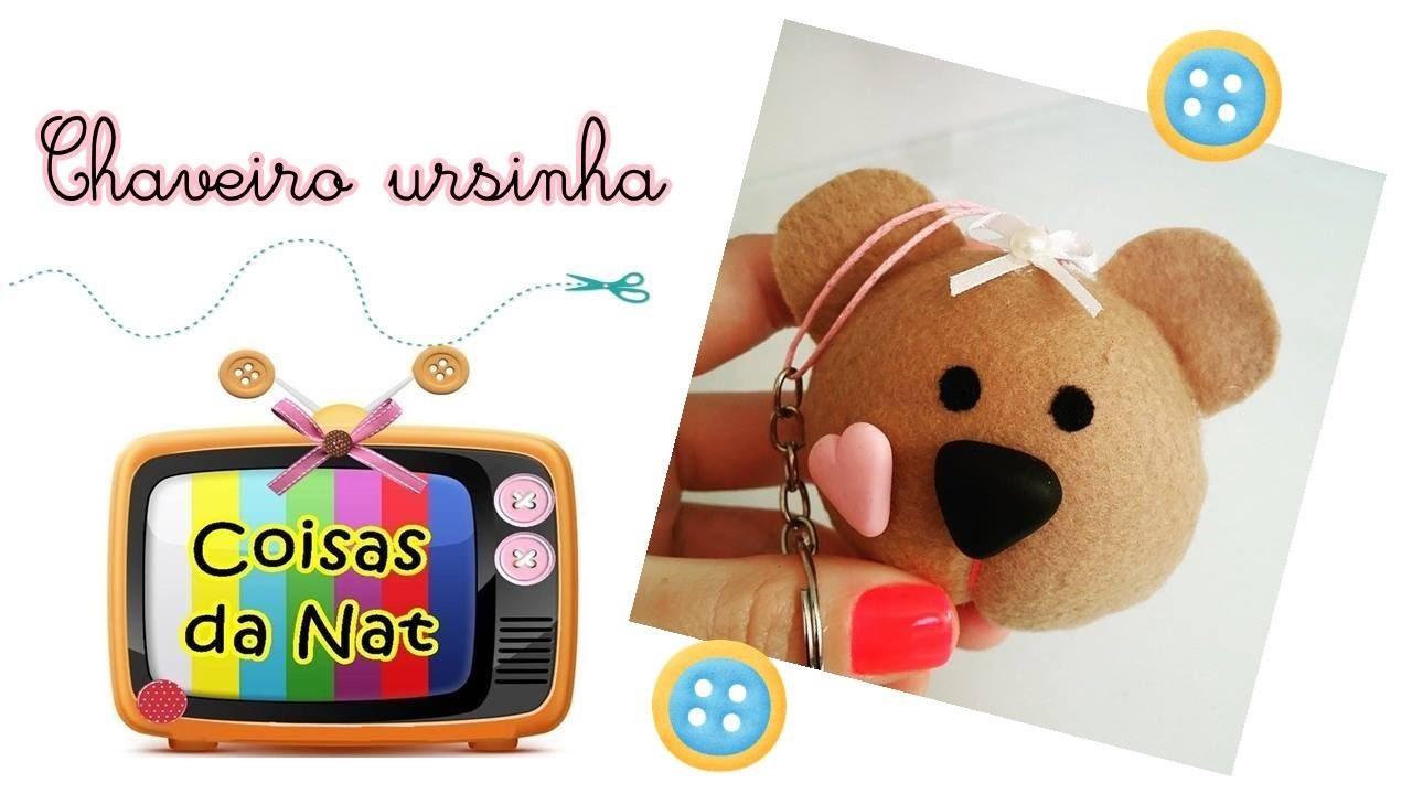 DIY: chaveiro ursinha