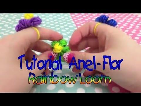 DIY: Como fazer anel de flor Rainboow loom !!