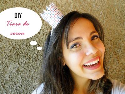 DIY: tiara de coroa para o dia das crianças