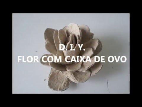 Flor Com Caixa De Ovos (DIY)
